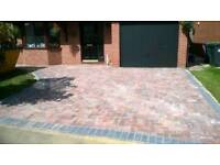 Block pavers and labourers