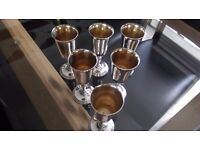 Silver Plated Wine Goblets