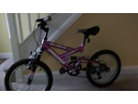 Girls Dual Suspension Mountain Bike