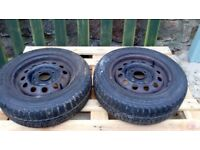 Ford ka winter tyres and rims. Ready to fit.