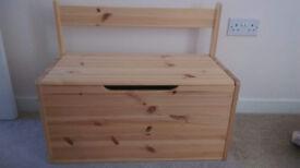 2x small Wooden trunks (originally toys storage box)