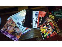 Starwars comics, books and a coin collect album