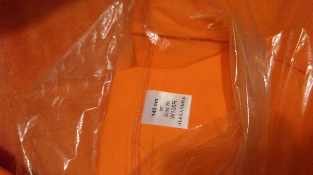 Orange Coverall Boiler suit full body cover - two sizes available