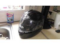 HJC IS-16 MOTORCYCLE HELMET MOTORBIKE PLAIN GLOSS BLACK SIZE SMALL