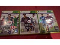 Fifa 13, Fifa 14 & Fifa 15 Xbox 360 Games
