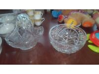 Two glass bowls