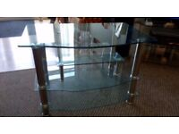Now Cheaper Glass and Chrome TV Stand