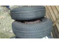 185R14C COMMERCIAL TYRE X2 (PAIR) IN GOOD CONDTION