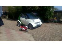 Smart Fortwo cabrio 600cc full mot 74k roof has been removed great fun for the summer convertible