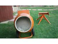 BELLE MINIMIX 150 CEMENT CONCRETE MIXER WITH STAND MAINS ELECTRIC 240V WORKS WELL