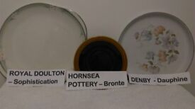Assortment of Hornsea pottery BRONTE, Royal Doulton SOPHISTICATION, Denby DAUPHINE