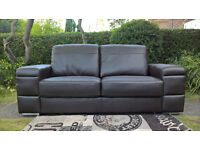 Ex -display Plaza 2 Seater Brown Leather Sofa.