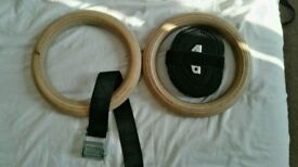 Wooden gymnastics rings (full size)