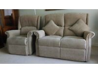 Immaculate 3 piece suite + recliner chair. Cost £2500 new. Message via gumtree or phone calls only.