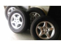 Mercedes Alloys off a ML 4X4 - unmarked with 4 Michelin tyres with 7mm + tread.