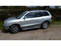 Left Hand Drive Spanish registered Hyundai Santa Fe 4x4, 2.7 V6 petrol