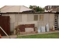 Concrete garage