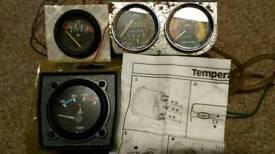 Car gauges, temp, amps, vacuum & pressure