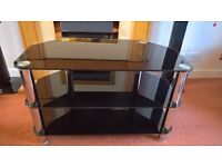 TV stand, 3 shelves, excellent condition, from smoke free home, no longer required