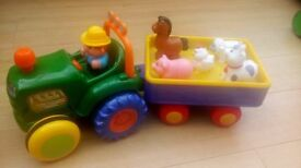 Old MacDonald's musical tractor and various other toys for toddlers