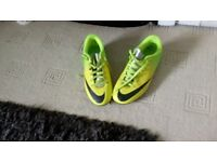 A pair of Nike football boots only been worn once size 3