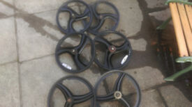 x3 sets bmx wheels (penarth)
