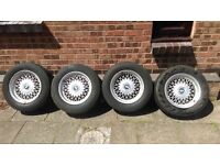 BMW E34 Style 7 alloy wheels and metric tyres