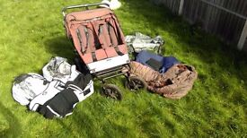Brown Urban Jungle double buggy Great Condition