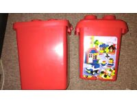 EMPTY LEGO STORAGE BOXES X 2