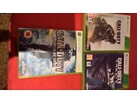 3 Call of Duty Xbox 360 Games