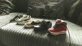 Various infant size 5 shoes