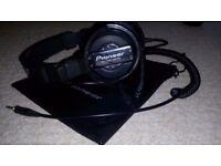 Pioneer HDJ-1000 limited edition black professional DJ headphones