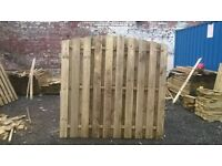 6FT X 6FT DOUBLE SIDED PALING HIT & MISS ARCHED FENCE PANEL PRESSURE TREATED TIMBER USED