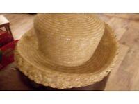 Summer wedding or elegant sun hat