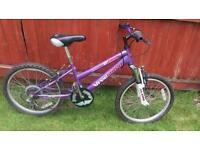 Girls front suspension bike