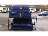Sofa Set - 3 Seat and 2 Armchairs ONLY £30
