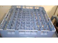 Dishwasher rack for plates