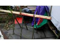 Wood cutting frame