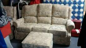 3 Seater settee and single armchair