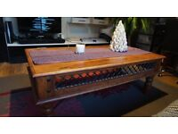 Large Rustic Solid Wood Living Room Coffee Table Walnut Stain-Used-SW16