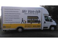 Mr Van-ish-domestic parcel delivery, clearance, small removals, gaarden clearance
