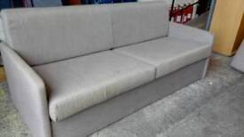 Modern fawn/grey sofa beds. In excellent condition x 2 available
