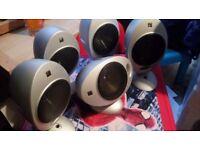 5 X KEF Egg 2001 Home Cinema Speakers 2005.2