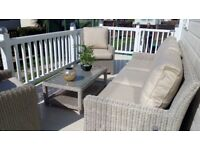 free delivery in somerset new rattan/wicker sofa set