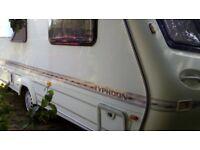 Eldiss typhoon caravan 1998 ,full Isabella awning