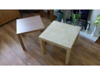 TWO IKEA SIDE TABLES