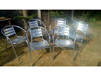 6 almost new Alluminium chairs