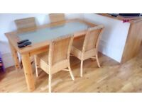 Quality dining table and 4 chair's.