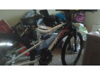 """26 """"Mountain bike like new with indoor trainer"""