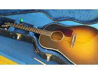 Gibson J45 acoustic/electric guitar sounds amazing